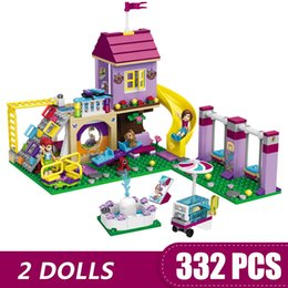 Blocks For Girls Australia - 332PCS Small Building Blocks Toys Compatible with Legoe Heartlake City Playground Gift for girls boys children DIY