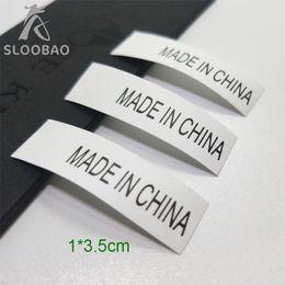 $enCountryForm.capitalKeyWord Australia - Made in china Production mark Synthetic band Custom design Garment Care Label Private design Clothing Wash Instruction Label 1000pcs lot