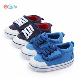 $enCountryForm.capitalKeyWord Australia - Solid Color Breathable First Walkers Baby Boy Shoes Newborn Canvas Crib Shoes Toddler Soft Sole Anti-slip Baby