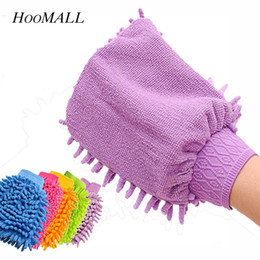 Kitchen Gloves Australia - ther Utensils Hoomall Mitt Soft Mesh No Scratch For Car Home Kitchen Glass Window Wash Cleaning Glove 1Pair Kitchen Microfiber Car Wash G...