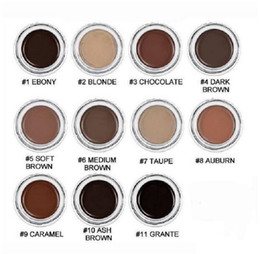 Low price makeup online shopping - low price Eyebrow Pomade Eyebrow Enhancers Makeup Eyebrow Colors With Retail Package ePacket ShipmentDHL shipping