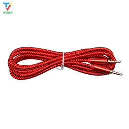Vga Audio Cord Australia - wholesale-China Red B style Audio cable 3.5 jack to jack aux cord 2m Headphone Speaker AUX Cable for iphone Car MP3 50pcs lot