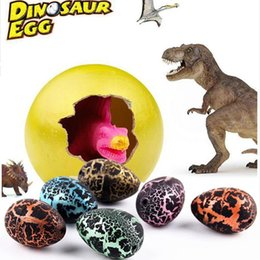 $enCountryForm.capitalKeyWord Australia - 60pcs lot Magic Hatching Growing Dinosaur Add Water Grow Dino Cracks Grow Egg Animal Breeding Process Teach Toys For Children Kid