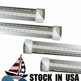 Free Fedex shipping online shopping - US standard v shaped ft T8 m W T8 V shape led cooler tube light By US Fedex Free ship shop lamp tu