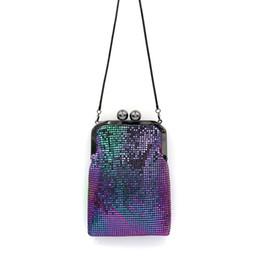 mini clip purses 2019 - Women Colorful Rainbow Evening Bags Sequins Beaded Mini Chain Handbag Luxury Party Clutch Wedding Gifts Bridal Purse Cli