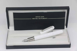 $enCountryForm.capitalKeyWord Australia - Limited Edition M Series matte White Fountain pen with magnetic cap Stationery office school supplies with MB Brands write pen silver trim