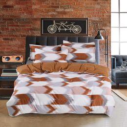 Plain Pink Black Bedding UK - Bedding Geometric Lattice Plain Quilt Cover Pillowcase Without Sheet Cover Bedding Set Printed Duvet Set#M3Y5