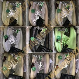 X cream online shopping - Stock X Static Black Reflective Antlia Lundmark Synth GID Glow True Form Clay Zebra Kanye West Women Running Shoes Men Designer Sneakers