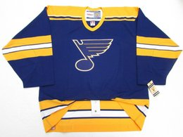 0770d0c8d LOUIS BLUES BLUE VINTAGE CCM 6100 HOCKEY JERSEY stitch add any number any  name Mens Hockey Jersey XS-5XL