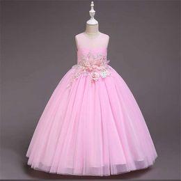Chiffon Fluffy Dresses Australia - Children's dress princess dress children's clothing summer 2019 new European and American girls fluffy wedding dress