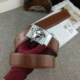 Chain Counter Australia - Dark brown with a full set of counter packaging Mens Belt Authentic Official Belt With Box