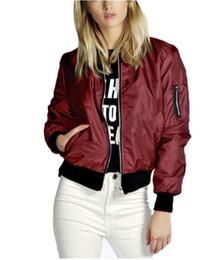 $enCountryForm.capitalKeyWord Australia - Spring Autumn Women Lady Thin Jackets Fashion Basic Bomber Jacket Long Sleeve Coat Casual Stand Collar Thin Slim Fit Outerwear 716-9
