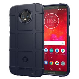 Wholesale moto z3 resale online - Full Coverage Shockproof Soft Silicone Case Armor Matte Cover Anti Knock Shell for Moto Z3 Play Heavy Duty Army Style