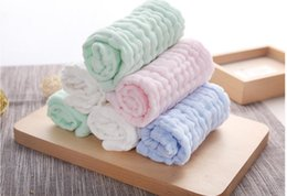 Baby Wash Hair Australia - Household baby wash small towel without hair loss absorbent cotton yarn wipes handkerchief children small square towel saliva towel