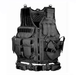 Tactical Vests Molle Australia - Equipment Tactical Vest Hunting MOLLE Vest Army Training Combat Armor Paintball CS War Game Protective