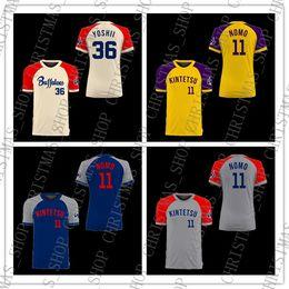 NCAA barato Camisola De Beisebol Da Faculdade Hideo Nomo Kintetsu Japão ponto de beisebol Costurado jersey Cores navio livre venda por atacado