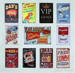 $enCountryForm.capitalKeyWord Australia - BBQ Wall Art Poster Drink Beer And Eat Burger Tin Plate Bar Cocktail Lounge Seaside Bakery Vintage Home Decor Metal Signs