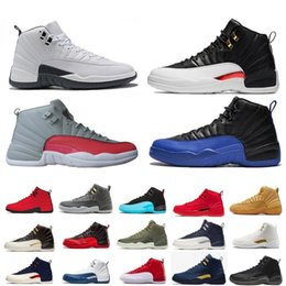 Discount royal blue satin high shoes - High Quality Reverse Taxi 12 12s Game Royal FIBA Basketball Shoes Bumblebee GS CNY Michigan White Grey Gym Red Mens Trai