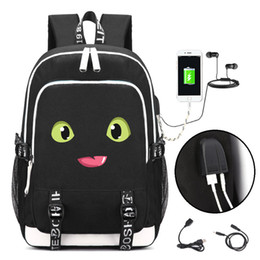 Train Usb Australia - How to Train Your Dragon Backpack with USB Charging Port and Lock &Headphone interface for College Student Work