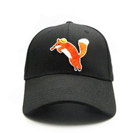 a34d4010d04 fox animal embroidery cotton Casquette Baseball Cap hip-hop cap Adjustable  Snapback Hats for kids men women 341