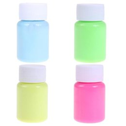 Painting Faces Australia - 1Pc Facial Painting Luminous Makeup Fluorescent Body Paint Pigments Face Tattoo Body Painting Cosmrtics Makeup Tools for Party