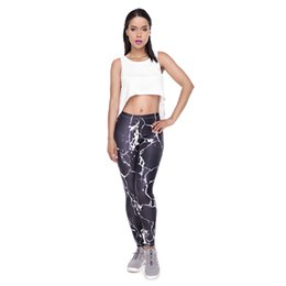 fitness girls leggings NZ - Lady Leggings Black White Marble 3D Graphic Full Comfortable Yoga Wear Pants Girl Gym Fitness Jeggings Girls Runner Casual Trousers (Y52049)
