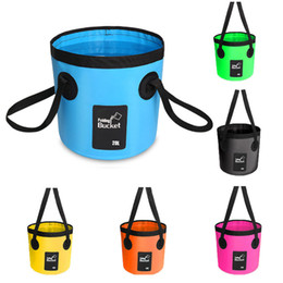 Orange Containers Australia - 6 Colors Water Bucket Container Wash Basin Outdoor For Camping Traveling Beach Water Bucket For Sand Fish Water Container Storage Box M238Y