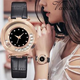White Rose Pattern Australia - Fashion Luxury Ball Diamond Rose Pattern Leather Belt Quartz Watch Bracelet Rhinestone ladies dress wristwatches female clock
