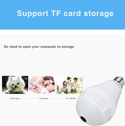 wholesale home security camera UK - Wifi LED Light camera HD 1080P 960P Bulb Lamp IP Camera 360 Degree Wireless Panoramic bulb camera Home Security surveillance camcorder