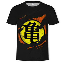 Dragonball Shirt Australia - Summer Dragonball T Shirts for Men High Qulity Big Yards 3D Digital Printing Short Sleeve Breathable Crew Neck Top Tees S-5XL