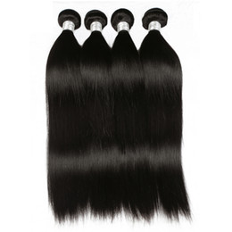 $enCountryForm.capitalKeyWord UK - 4Pcs Straight 100% Remy Human Hair Weft Water Wave Black Natural Color Can Be Bleached &Restyled With Factory Price