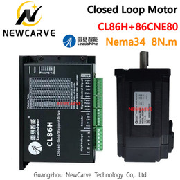 servo driver motor UK - Leadshine CL86H And 86CME80 Nema34 8NM Closed Loop Hybrid Servo Motor Driver Kit 86mm Stepping Motor Drive NEWCARVE