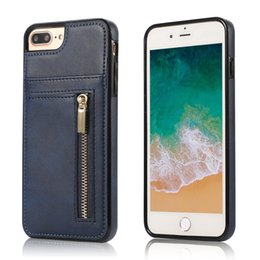 $enCountryForm.capitalKeyWord Australia - For Iphone 8 7 6 5 Plus X XR XS MAX Zip Design Premium Leather Material Card Slot Holder Protective Phone Case Cover
