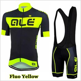 Wholesale 2019 Ale team Cycling Jersey Set Men Bike Clothing Short Sleeve shirt Bib Shorts Suit High Quality summer bicycle sports uniform