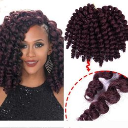 hottest curling wand NZ - A Hot ! 5Pcs 8'' 20strands Jumpy Wand Curl Jamaican Bounce Synthetic Braiding Hair Extension Crochet Braid Kanekalon Hair for