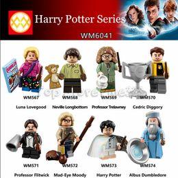 Harry Potter Blocks Australia - Harry Potter Series Building Blocks Kopf Block Toys Bricks Doll Toys Best ABS Minifig Harry Potter Luna Lovegood Neville Longbotton Toys
