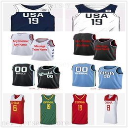 Names Numbers soccer online shopping - Custom Printed AllStarJerseys Top Quality New Mens Man Men White Black Blue Jersey Message number and name on the order