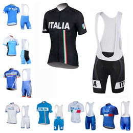 Discount new jersey italy - New 2019 ITALY team Cycling Short Sleeves jersey bib shorts sets cycling clothing breathable outdoor mountain bike K0408