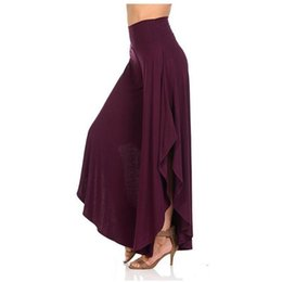 Wholesale black wide leg formal pants for sale – dress Spring Autumn Women Loose Pants Asymmetrical Patchwork Wide Leg Pants Casual Female Pleated Trousers Loose Streetwear Y19051701