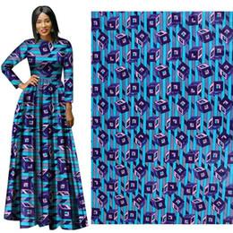 Wholesale Batik Fabric Australia - New African Wax Print Fabric new Wax Hollandais Fabric Ankara African Batik 100% Breathable Cotton blue Dot Fabric