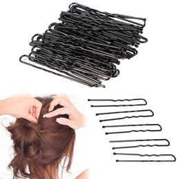 Metal U Shaped Hair Clip Australia - LOEEL 100Pcs Lot Hair Clips Black U-shaped Hairpins Barrette Mini 4.5cm 5cm 6cm Metal Plated Brown Bobby Pins for Women Girls