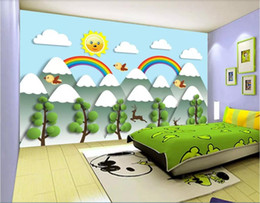 Chinese Hand Painting Landscaping Australia - 3d wallpaper custom photo mural Hand-painted children's room original animation landscape TV background wall landscape wall tapestry 3d