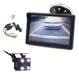 Опт DIYKIT беспроводной водонепроницаемый HD обратный резервного копирования камеры автомобиля LED ночного видения + 5-дюймовый ЖК-дисплей заднего вида монитор автомобиля
