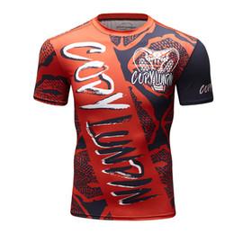 $enCountryForm.capitalKeyWord NZ - 2019 Men T Shirt Fitness Work Out Compression Short Sleeves Mens Cobra Viper 3D Print MMA BJJ Rashguard Tights Skin Man T Shirts