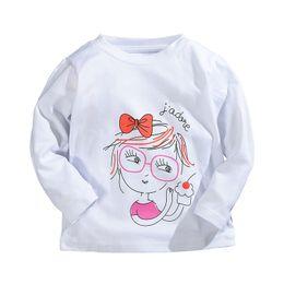 $enCountryForm.capitalKeyWord Australia - Cartoon Printed T-shirts For Girls Brand 100% Cotton Long-sleeve Girls T Shirts 1-5 Years Kids Baby Girls Tops Children Tees