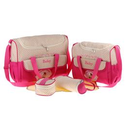 5pcs Bebek Bezi Çanta Anne Omuz Çantası Annelik Mumya Çanta Arabası Çanta