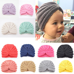 a6cd5d5413ed4 Ins Children s Wool Indian Hat Kids Baby Knitting Hats Warmer Solid Hat  Crochet Caps Winter Ears Protection Support FBA Drop Shipping M30F