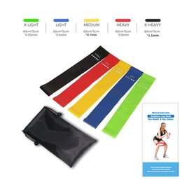 Wholesale Items Sold Australia - HOT SELLING 5PCS Set Resistance Band fitness 5 Levels Latex Gym Strength Training Rubber Loops Bands Fitness Equipment Sports yoga belt Toys