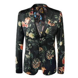$enCountryForm.capitalKeyWord UK - Loldeal Men's Stylish Dragon Floral Suits Fashion One-button Party Blazer Jacket J190420