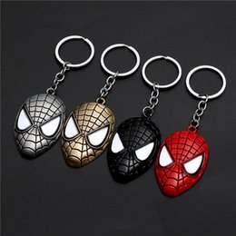 superhero keychains UK - 17 styles Marvel Avengers Spiderman Mask Keychain Cartoon Figure Superhero Spider Man Pendant Key Chain Key Ring Trinket Gift jssl001